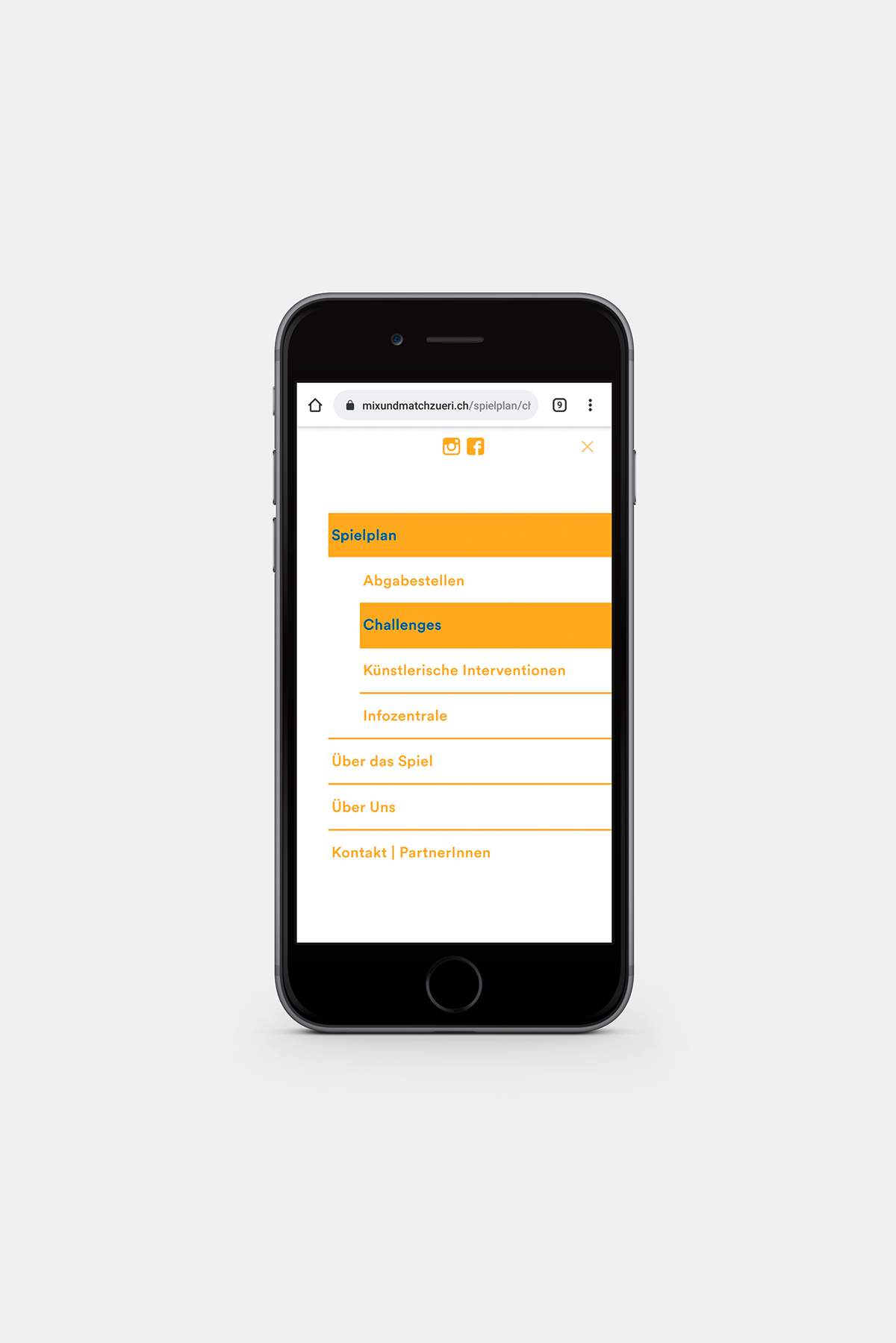 Mix und Match Webseite Smartphone