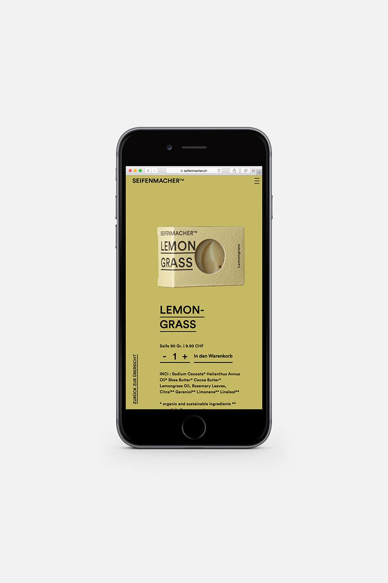 Webseite Smartphone